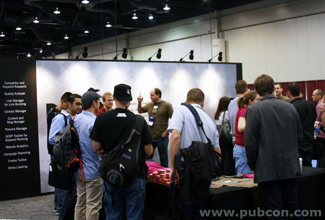 People at PubCon Booth