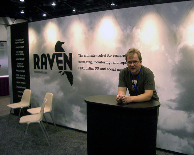 Scott Holdren at Raven Booth at PubCon