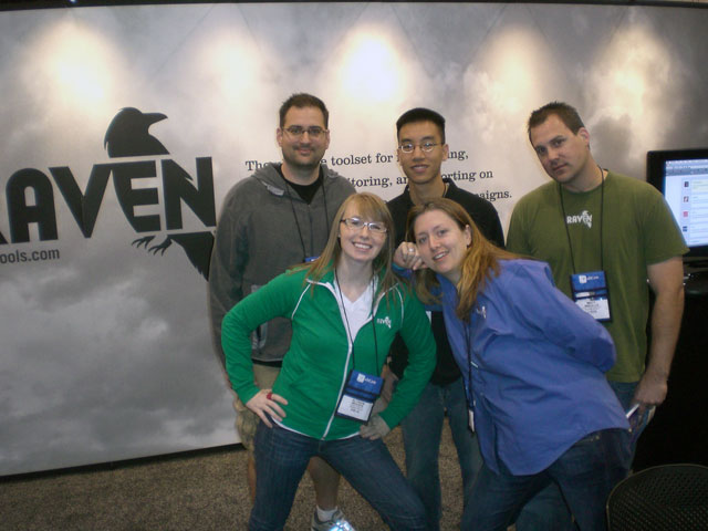 Team Raven at the Booth